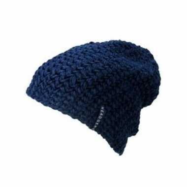 Basis wintermuts beanie donkerblauw