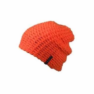 Basis wintermuts beanie oranje