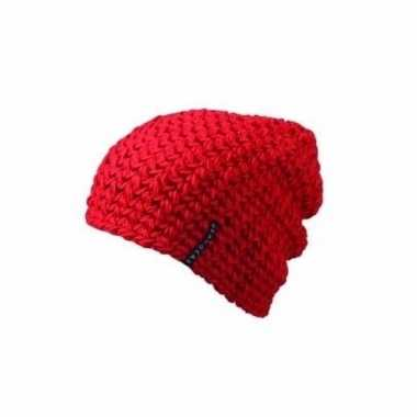 Basis wintermuts beanie rood