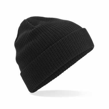 Commando beanie organic wintermuts in het zwart