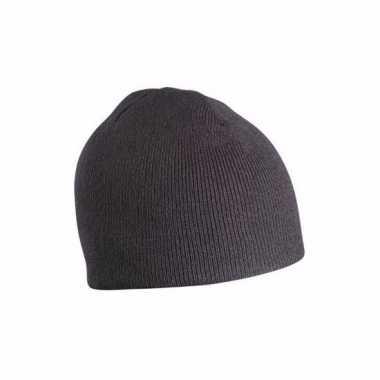 Gebreide wintermutsen zwart voor dames