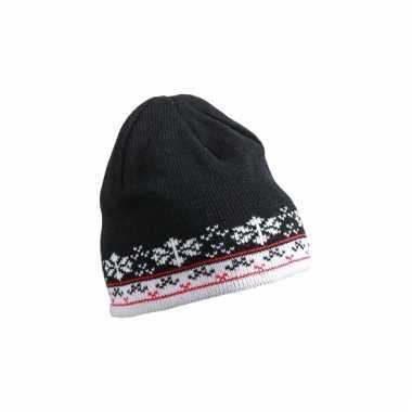 Scandinavische wintermuts zwart