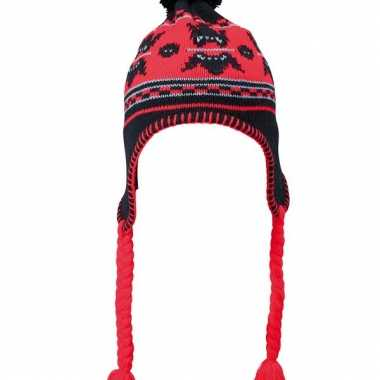 Wintermuts zwart en rood
