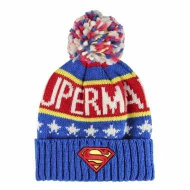 Wintermutsen superman voor kinderen