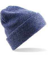 Heritage beanie wintermuts in het antique blauw