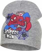 Wintermuts spiderman grijs voor jongens