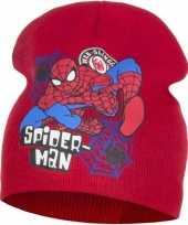 Wintermuts spiderman rood voor jongens